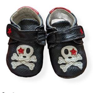 Jack & Lily leather skull & crossbones shoes